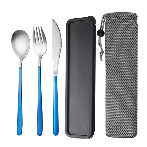 JueQi Camping Tableware Set Cutlery Stainless Steel 304 Utensils Kitchen Dinnerware include Knife Fork TeaSpoons