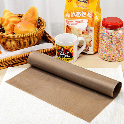 Image of LINSBAYWU 30x40cm Pastry Baking Oilpaper Mat Oilcloth Non-stick High Temperature Resistant Fabric Cloth Baking Oven Oil Paper