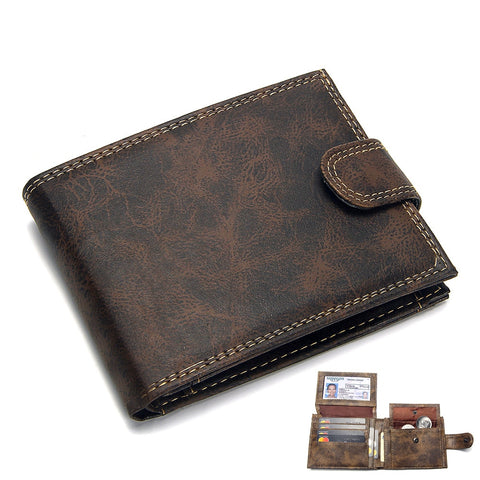 Luxury Designer Mens Wallet Leather Bifold Short Wallets Men Hasp Vintage Male Purse Coin Pouch Multi-functional Cards Wallet
