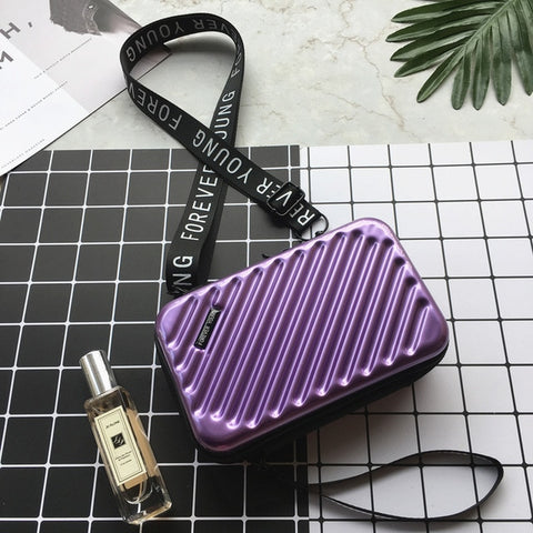 Image of Luxury Hand Bags for Women Suitcase Shape Totes Fashion Mini Luggage Bag Women Clutch Bag Mini Box Bag