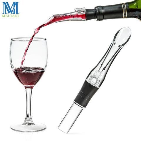 Image of Meltset 1PC Acrylic Aerating Pourer Decanter Wine Aerator Spout Pourer New Portable Wine Aerator Pourer Wine Accessories