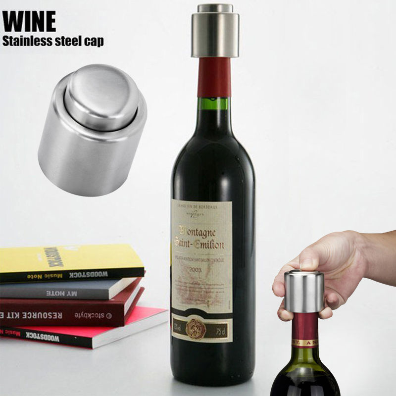 New Arrival 1PC Silver Elegant Stainless Steel Vacuum Wine Stopper Saver Preserver Pump Sealed Sealer