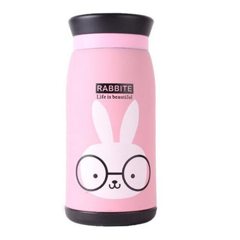 Image of New Arrival 250ml/350ml Cartoon Thermos Cup Bottle Stainless Steel Thermocup Vacuum Thermal Mug Funny Birthday Couple Gift
