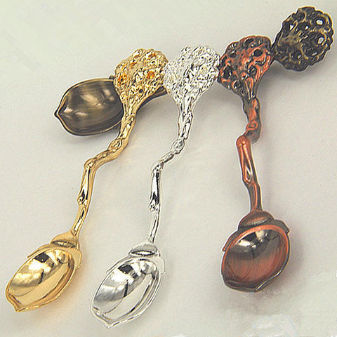 1 Pcs Palace Style Coffee Tea Spoon Fruit Ice Cream Alloy Scoop Home Flatware