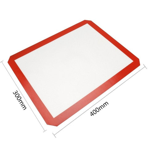 Image of Non-Stick Silicone Baking Mat Pad Sheet Baking pastry tools Rolling Dough Mat Large Size for Cake Cookie Macaron