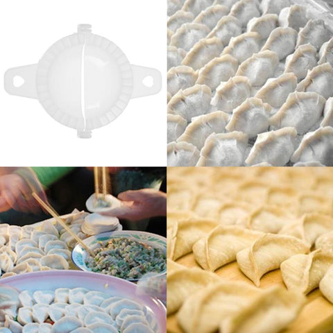 Image of Plastic Dumpling Maker Mould Hand Dough Press Dumpling Pie Ravioli Mould Dumpling Making Clip Kitchen Pastry Tools