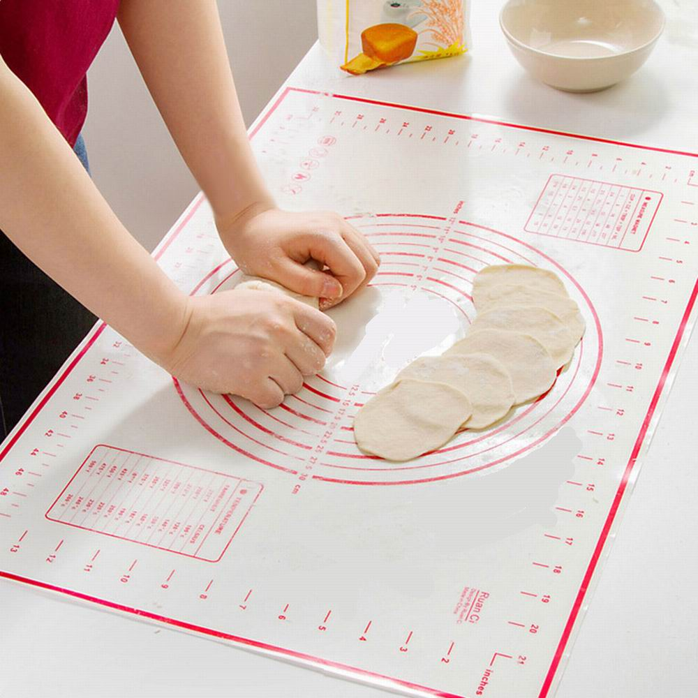 Platinum Silicone Kneading Mats Baking Kneading Dough Mat Dumpling Pads Cushioning Pads Nonstick Slabs Rolling Pastry Pans