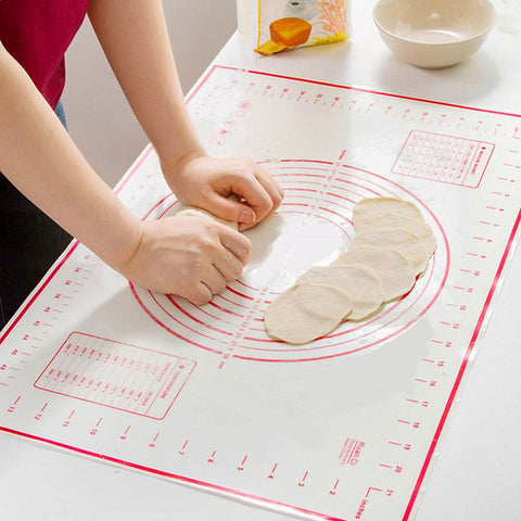 Image of Platinum Silicone Kneading Mats Baking Kneading Dough Mat Dumpling Pads Cushioning Pads Nonstick Slabs Rolling Pastry Pans