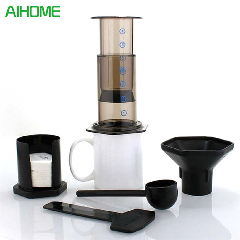 Image of Portable Coffee Maker Coffee Press Pot Coffee Filter Coffee Machine  Paper Kitchen Set Supply