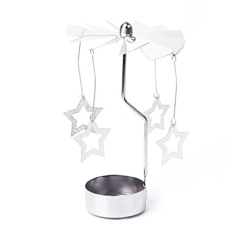 Rotary Spinning Tealight Candle Metal Tea light Holder Carousel Home Decor Christmas Gift