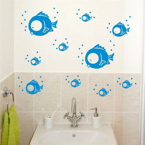 Image of Seabed Fish Bubble NEMO Wall Sticker Cartoon Wall Sticker For Kids Rooms Bathroom Home Decor Nursery quarto Decals Poster