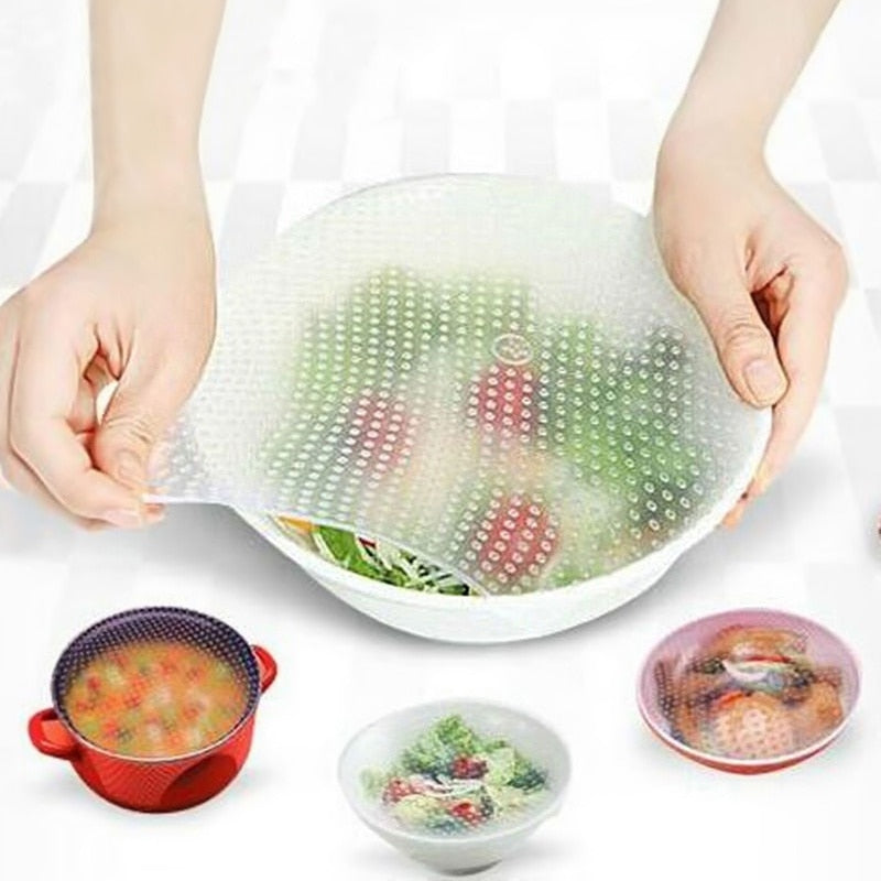 Silicone Wrap Seal Vacuum Food Wrap Multifunctional Food Fresh Kitchen Tools