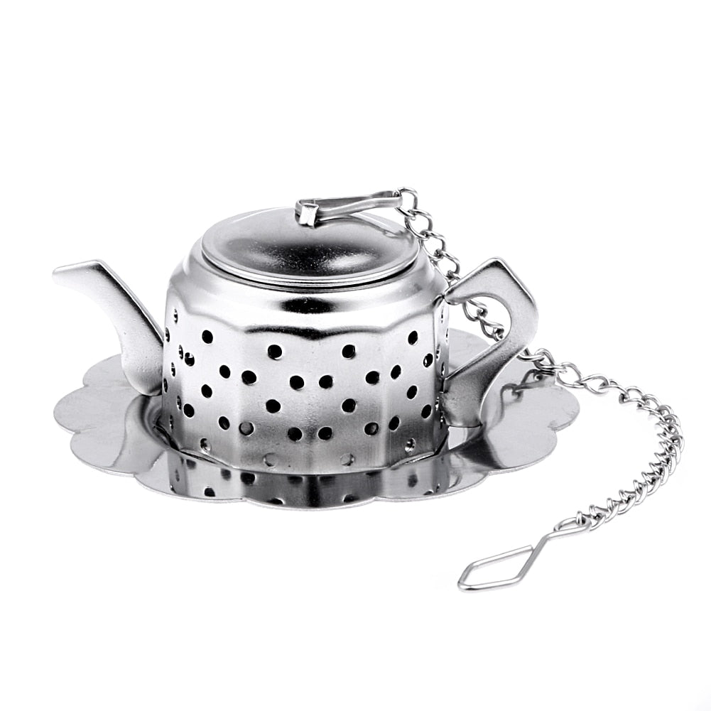 Stainless Steel Tea Infuser Teapot Spice Drink Tea Strainer Herbal Filter Kitchen Tools Tea Accessories Tea Infuser