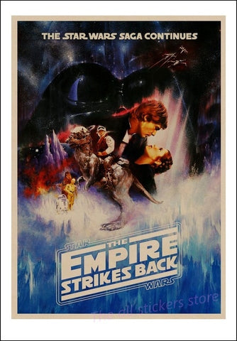 Image of Star Wars poster New hope, The return of the jedi, the Force Awakening, Rogue one, The Phantom Menace Art kraft posters