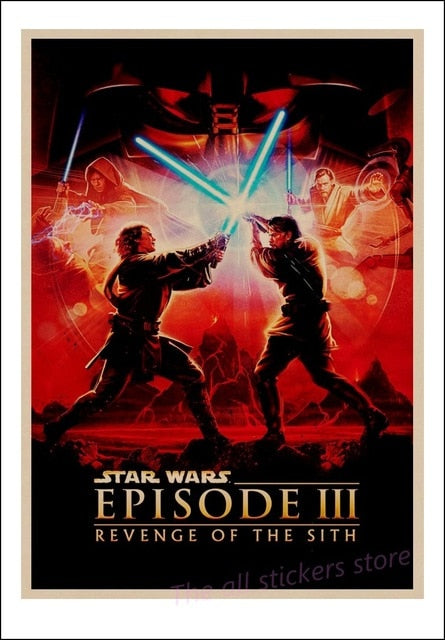 Star Wars poster New hope, The return of the jedi, the Force Awakening, Rogue one, The Phantom Menace Art kraft posters