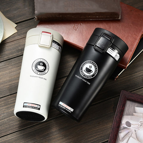 Image of UPORS Premium Travel Coffee Mug Stainless Steel Thermos Tumbler Cups Vacuum Flask thermo Water Bottle Tea Mug Thermocup