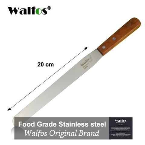 Image of WALFOS Stainless Steel Butter Cake Cream Knife Spatula for Cake Smoother Icing Frosting Spreader Fondant Pastry Cake Decorating