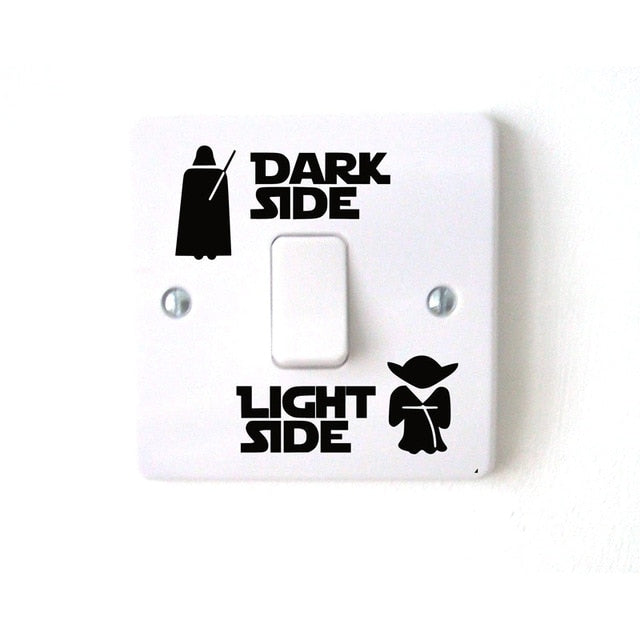 Wars Dark Light Side Star Classic Film Funny Vinyl Switch Stickers Decal 3WS0001