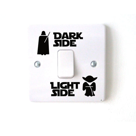 Image of Wars Dark Light Side Star Classic Film Funny Vinyl Switch Stickers Decal 3WS0001