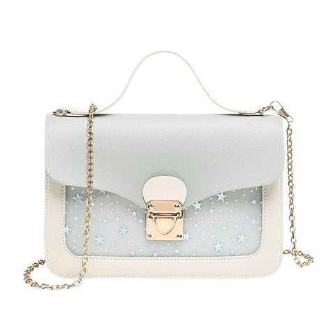 Image of Women Mini Small Square Pack Shoulder Bag Fashion Star Sequin Designer Messenger Crossbody Bag Clutch Wallet Handbags