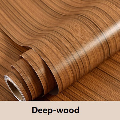 Wood grain Home Decor Furniture Vinyl Wrap Waterproof Wall Sticker Self Adhesive PVC Wallpaper Kitchen Desk Door Decorative Film