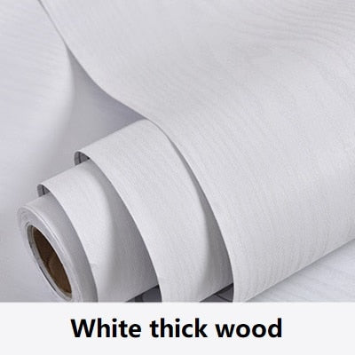 Image of Wood grain Home Decor Furniture Vinyl Wrap Waterproof Wall Sticker Self Adhesive PVC Wallpaper Kitchen Desk Door Decorative Film