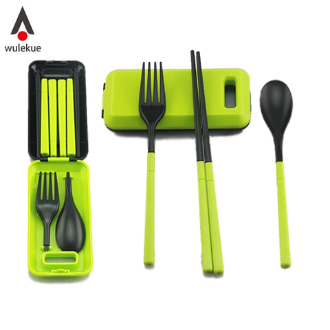 Image of Wulekue 1PCS Camping Portable Cutlery Travel Kids Adult My food picks Fork Picnic Set  for Child dinnerware Camping Picnic Set