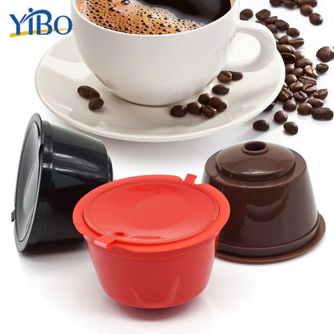 Image of YIBO 1Pc Professional Refillable Coffee Filter 4X5.4cm 12g Sweet Taste Reusable Coffee Capsule Plastic PP Basket dolce gusto