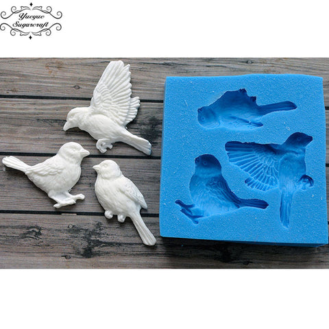 Image of Yueyue Sugarcraft Birds Silicone mold fondant mold cake decorating tools chocolate gumpaste mold