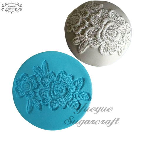 Image of Yueyue Sugarcraft Flower Lace Cupcake Silicone mold fondant mold cake decorating tools chocolate gumpaste mold