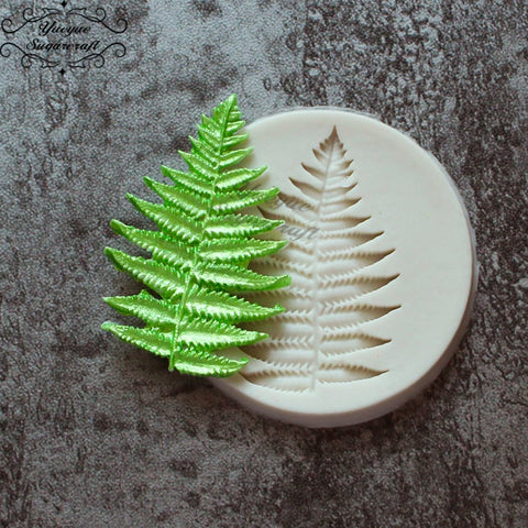 Image of Yueyue Sugarcraft Leaf fondant mold cake decorating tools chocolate mold silicone cake mold baking mold