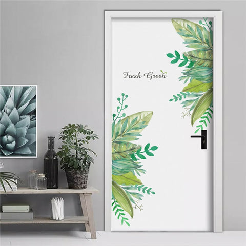 Image of fresh green garden plant baseboard wall sticker home decoration mural decal living room bedroom decor