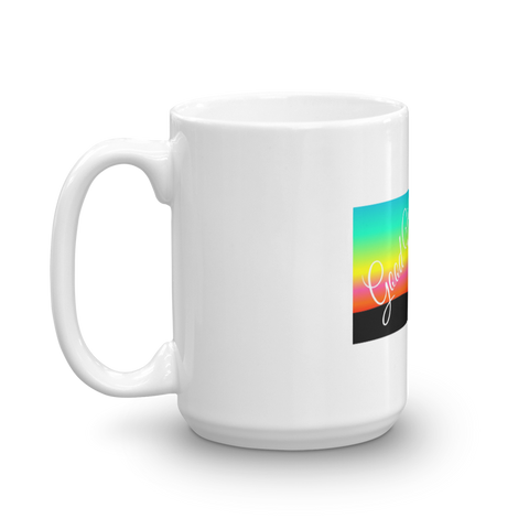 Image of Good Vibes Sunset at Beach Coffee Mug
