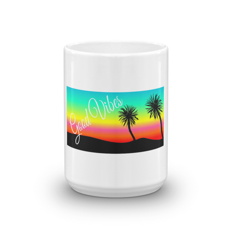 Good Vibes Sunset at Beach Coffee Mug