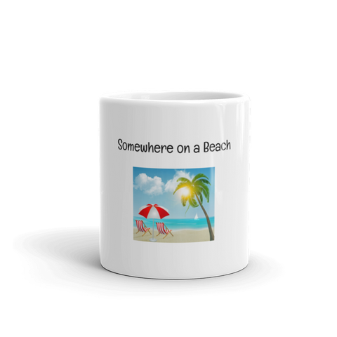 Image of Somewhere on a Beach Coffee Mug