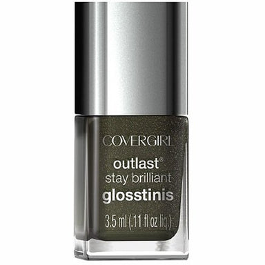COVERGIRL OUTLAST STAY BRILLIANT GLOSSTINIS NAIL POLISH #640 BLACK HEAT 3.5ml