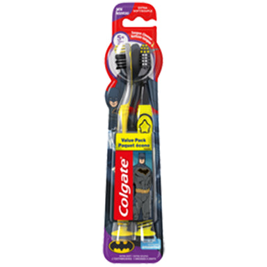 Colgate Toothbrush Kids 2Pk Batman Extra Soft