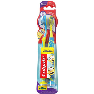 Colgate Toothbrush Kids 2Pk Despicable Me Minions Extra Soft, Colours may vary