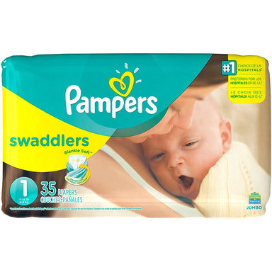 Pampers Diapers 40Ct Swaddlers 8-14 Lbs Jumbo Size 1