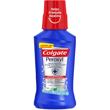 Colgate Mouthwash Peroxyl Mouth Sore Rinse Mint, 237Ml