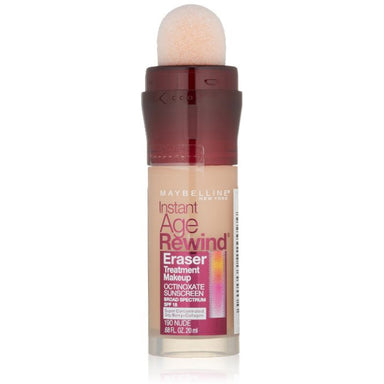 Maybelline New York Instant Age Rewind Eraser Treatment Makeup, Nude 190
