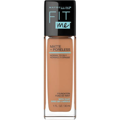 Maybelline New York Fit Me Matte & Poreless Foundation, Toffee, 1 Fl Oz