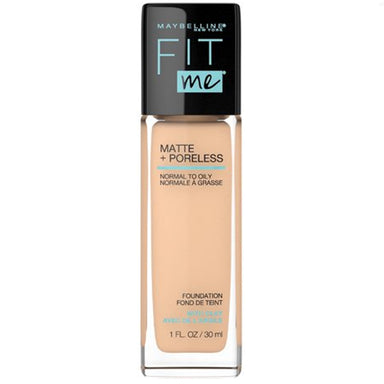 Maybelline FitMe Matte + Poreless Foundation 124 Soft Sand - 1 fl oz
