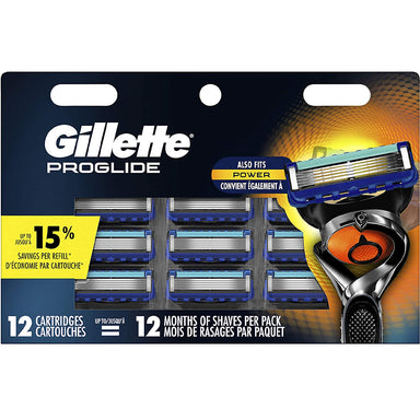 Gillette Fusion 5 Proglide 12Ct Cartridges (B)