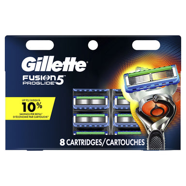Gillette Fusion 5 Proglide 8Ct Cartridges Card