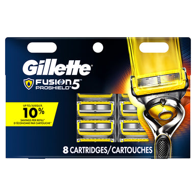 Gillette Fusion 5 Proshield 8Ct Cartridges Card