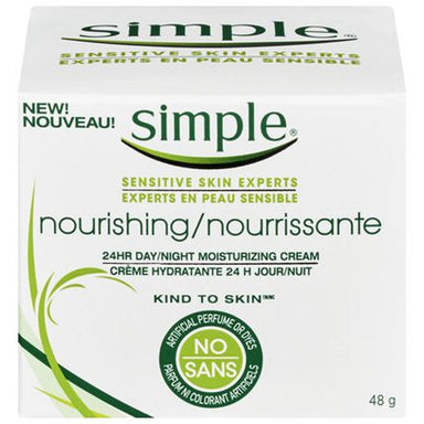 Simple Sensitive Skin Experts Nourishing 24 Hr Day/night Moisturizing Cream, 48g