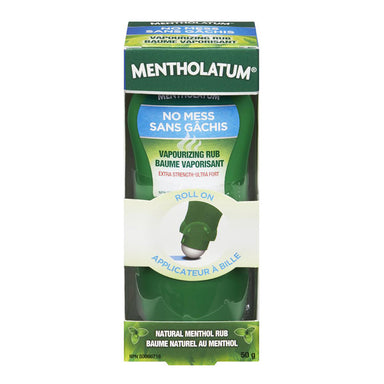 Mentholatum No Mess Vaporizing Rub, Roll On Applicator, Extra Strength, 50 g