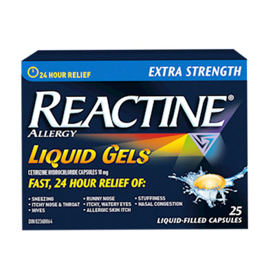 Reactine Extra Strength Liquid Gels, 25 units