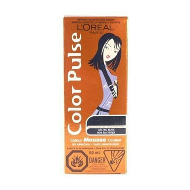 L'Oreal Color Pulse Non-Permanent Hair Color Mousse Electric Black
